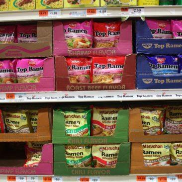 Ramen Noodles in allen möglichen Varianten.