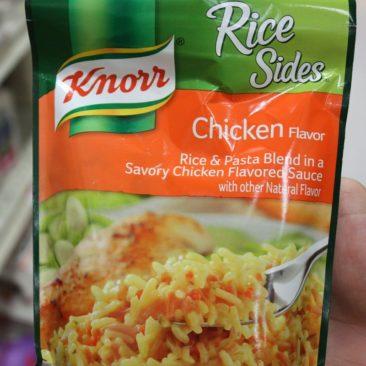 Rice Sides waren unser bevorzugtes Abendbrot. Ergänzt um Fisch macht eine Packung pro Person halbwegs satt.
