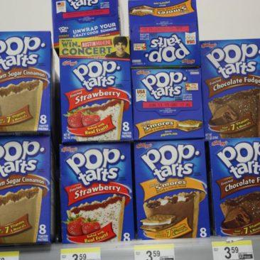 Poptarts gibt es in unfassbar vielen Geschmacksrichtungen. Meist deutlich billiger als in diesem Laden.