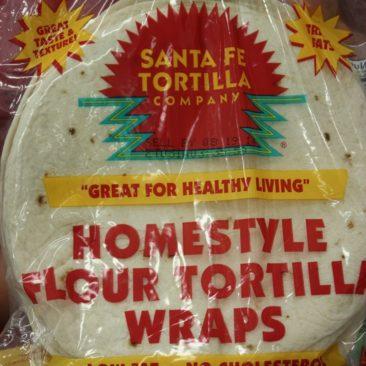 Tortillas sind billiger als Brot, halten länger und sind gut zu verpacken.