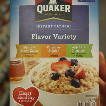Oatmeal ist ein Frühstücksklassiker auf dem Trail. Hier die typische Mischpackung.
