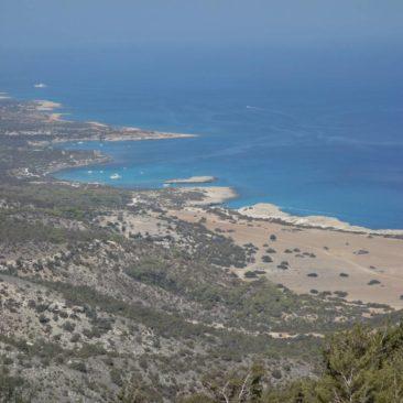 Blick auf die Akamas-Halbinsel von oben