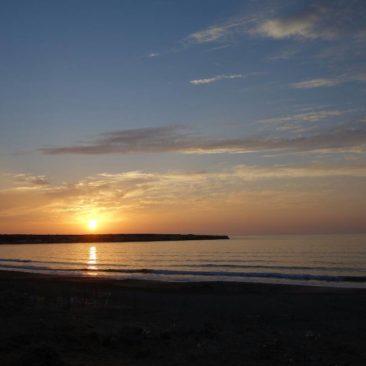 Sonnenuntergang bei Lara Beach