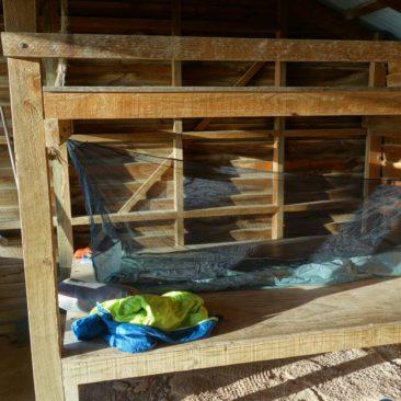 Mückenschutz ist leider an vielen Sheltern nötig