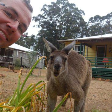 Selbstportrait mit Känguru