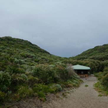 Die geschützt gelegene Long Point Shelter