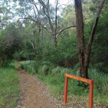 In der Nähe von Perth ist der Track extrem gut ausgeschildert