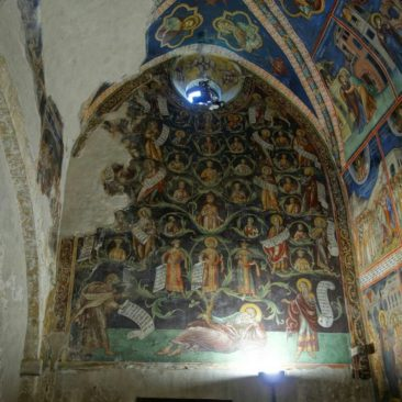 Deckenbemalung im Kloster