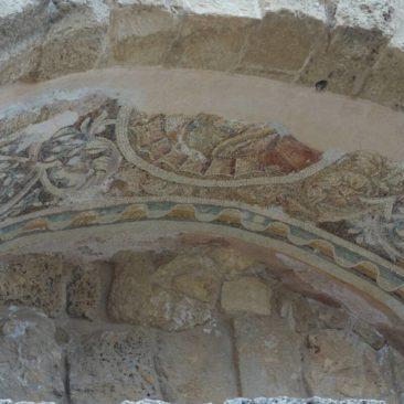 Deckenbemalung in den Ruinen von Salamis