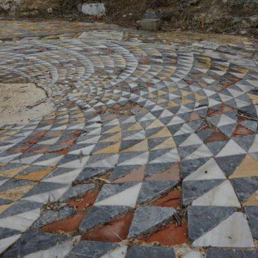Mosaik in den Ruinen von Salamis