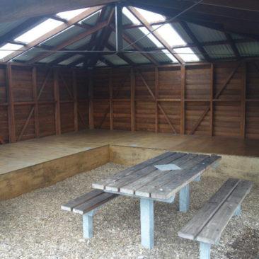 Der Grundriss der südlichen Shelter - ohne Doppelstockbetten