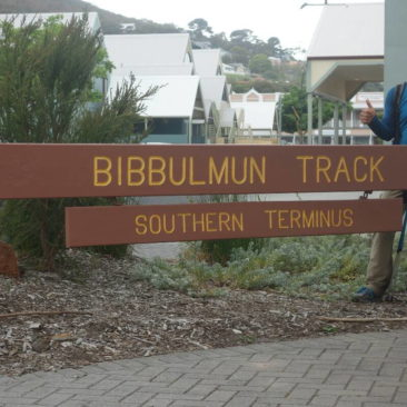 Der südliche Endpunkt des Bibbulmun Tracks am Visitor Center in Albany