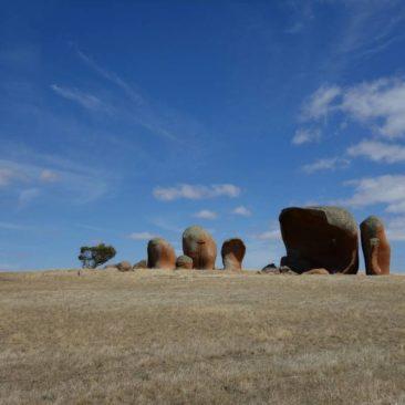 Die Felsformation von Murphys Haystack