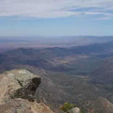 Blick auf die Felsenkette der Flinders Range von Mount St. Mary aus
