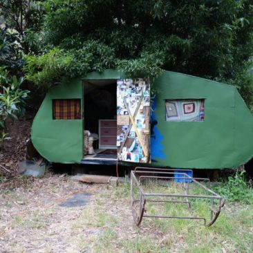Der Wohnwagen bei Mike in Adelaide