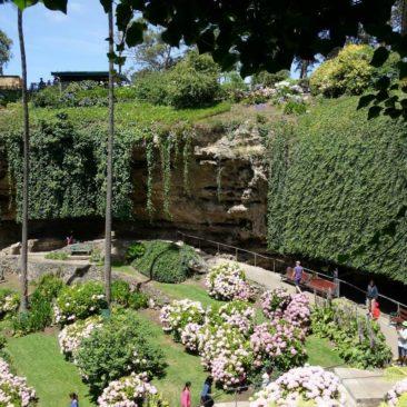 Der wirklich schöne Garten im Sinkhole von Mount Gambier