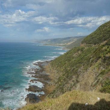Die Küste, an der die Great Ocean Road entlang führt