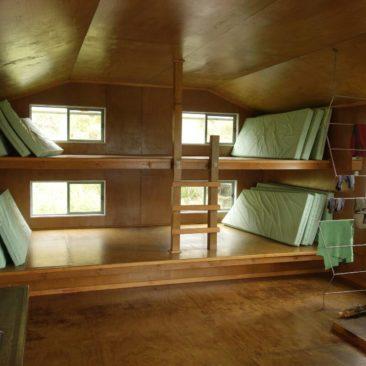"""Das """"Schlafzimmer"""" der Long Harry Hut"""