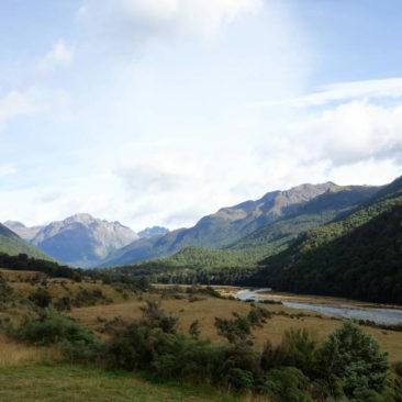 Ausblick von der Mid Caples Hütte aus