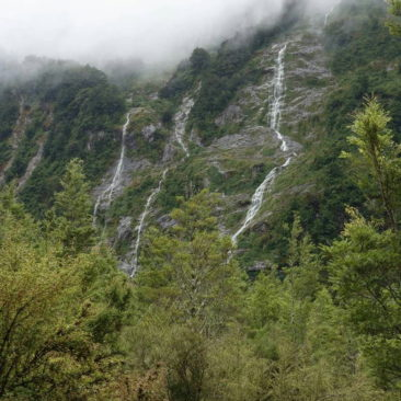 Wasserfälle gibt es im Tal des Clinton River mehr als genug (insb. nach Regen)
