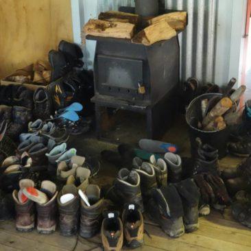 Jeder will am nächsten Morgen trockene Schuhe (Mintaro Hut)
