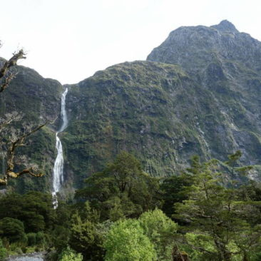 Sutherland Falls, Neuseelands höchster Wasserfall (580m)