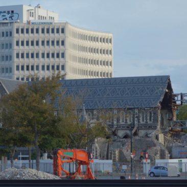 Die zerstörte Kathedrale von Christchurch