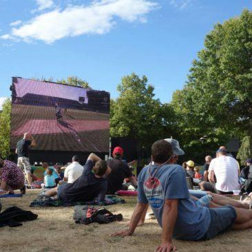 Beim Public Viewing der Cricket WM in Christchurch