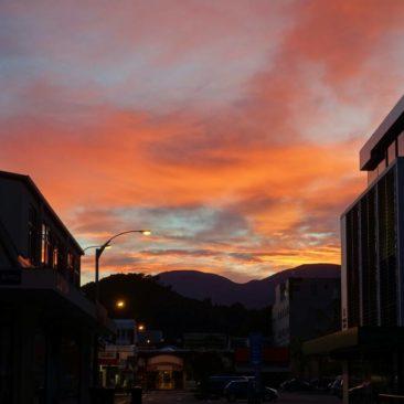 Sonnenaufgang in Nelson