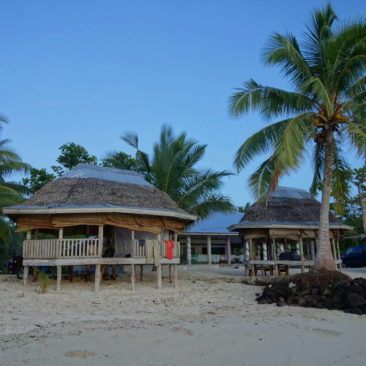 Meine erste Beach Fale in Lano - ein typisches Exemplar