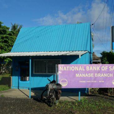 Bankfiliale in Manase - einer von nur zwei Geldautomaten auf Savai'i