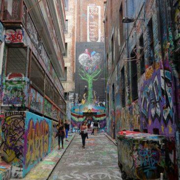 Eine Gasse in Melbourne erlaubt auch Graffiti - das ist das Resultat