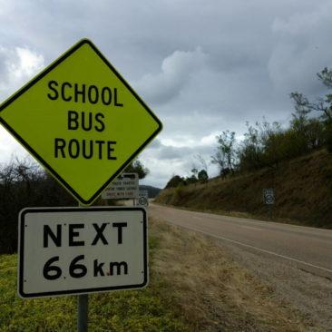 Manche haben einen sehr langen Schulweg