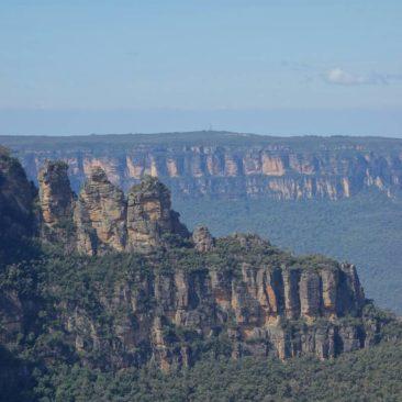 "Die Felsformation der ""Three Sisters"" im Blue Mountains Nationalpark"