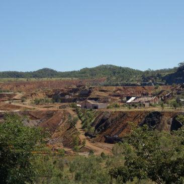 Die ehemalige Mine im Städtchen Mount Morgan