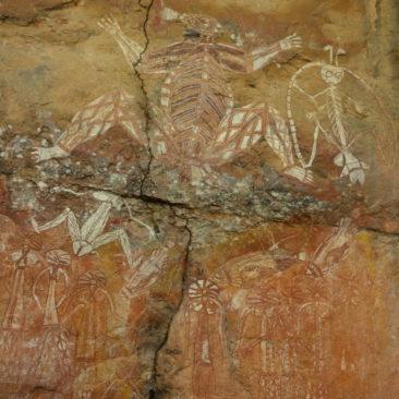Uralte Felszeichnung der Aborigines am Nourlangie Rock