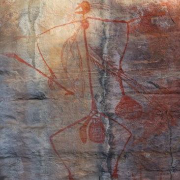 Weitere Felszeichnung der Aborigines am Ubirr Rock