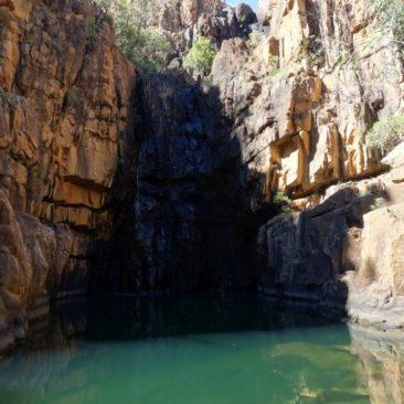 Das Southern Rockhole Wasserloch an der Katherine Gorge