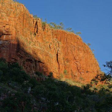 Beginnender Sonnenuntergang in Emma Gorge
