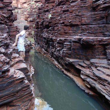 Die Hancock Gorge - noch gut mit Wasser gefüllt