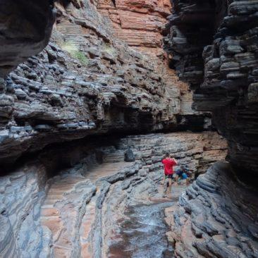 Viele Windungen machen die Hancock Gorge zum Abenteuer