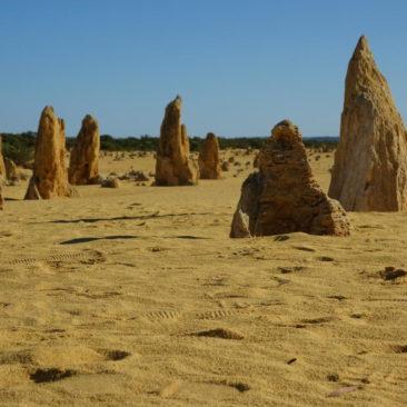 Viele der Pinnacles sind fast pyramidenförmig