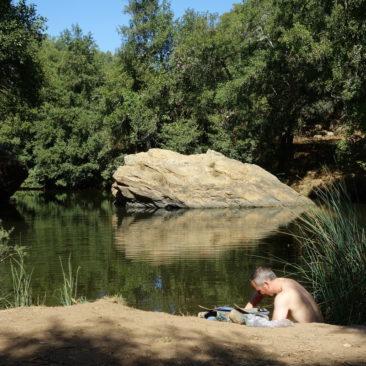 Pego das Pias - eine Oase inmitten der vertrockneten Umgebung
