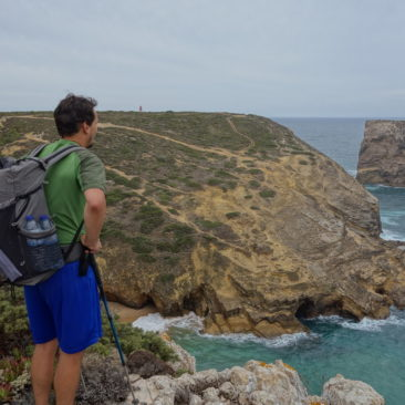 Spektakuläre Küstenlandschaft kurz vor Cabo de Sao Vicente