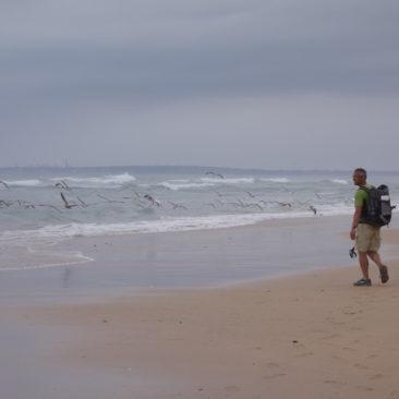 Einge Abschnitte lassen sich auch gut am Strand zurücklegen.