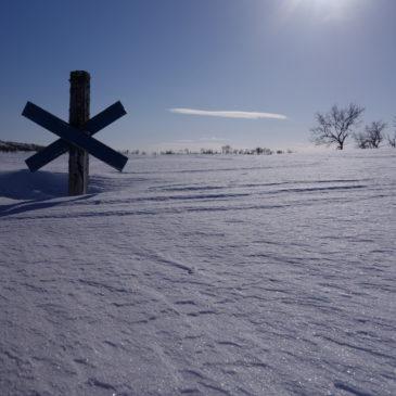 Meterhoher Schnee