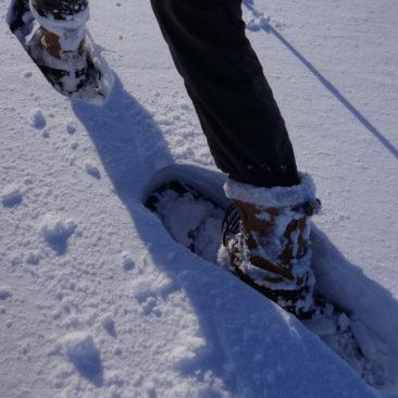 Ist keine Schneemobilspur vorhanden, wird es anstrengend