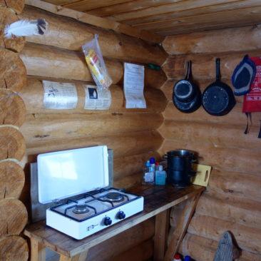 Purer Wintertourluxus: Alle Hütten sind mit Gaskochern ausgestattet