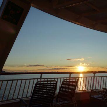 Abendstimmung auf dem Hurtigrutenschiff