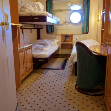 Eine Kabine auf der MS Finnmarken